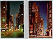 2 Postcards Fort Worth Tx West Seventh Street Day/night Christmas Lights