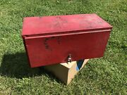 """Vintage Craftsman 1930s 1940s 22"""" Inch Tool Box Top Chest Box Empty"""