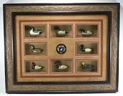 Rare Htf Ducks Unlimited Classic American Antique Decoy Collection Frame Display