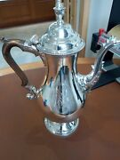 Silver Hallmarked London 1784 George Lll Coffee Pot With Initials To One Side.