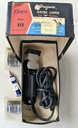 Vtg Oster Progienic Model 111 A Professional Hair Clippers W/box Oil And 2 Combs
