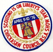 Vintage April 1976 Chickasaw Council Show Boy Scouts America Bsa Twill Patch