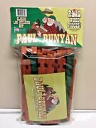 New -in-package Paul Bunyan Log Building Kit Real Wood Lincoln Logs Style