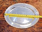 Huge Antique Victorian Sheffield Silver Plate Oval Salver Serving Tray Dish 1860