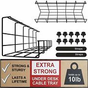 Under Desk Cable Management Tray - Under Desk Cable Organizer For Wire Manage...