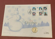 2006 Gibraltar 50p Fifty Pence Coin Bunc Christmas Tree Very Scarce Cover Fdc