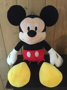 Disney Mickey Mouse Large Giant Plush, 36 Tall, 2012, Excellent Condition