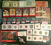 Silvecr Certificate Note,silver Mix Coins,baseball Cards,foreign Note And Stamps