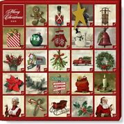 Christmas Advent Magnetic Calendar Painted By Darren Gygi 9 X 9 Inch