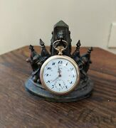Antique Trib Pocket Watch With Franco-prussian War Of 1870 Display Stand