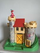 Vintage Fisher Price Little People Play Family Castle 993 Pink Dragon King 1974