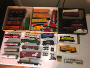 Estate Ho Train Lot -41 Freight Cars Tanks Carriers Caboose Diner Plus