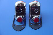 1951-1952 Chevrolet Complete Taillight Assembly-blue Dot-12 Volt-pair-new