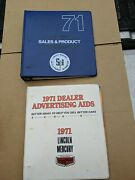 2 Oem 1971 Lincoln Mercury Dealership Sales And Product Info Cougar Cyclone And More