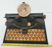 Barn Find Rare Old Vintage 1950/60's Marx Tin Litho De-luxe Dial Typewriter Toy