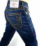 True Religion Rocco Urban Cowboy Relaxed Skinny Super T Jeans 32 Inseam 105202