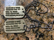 Vintage 1942–1943 Wwii Us Army Burlingame Ca Dog Tags Next Of Kin Rare