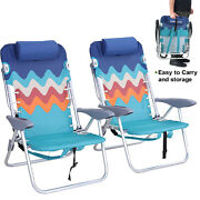 Beach Chairs Backpack Portable Fold Lounge Chairs Set Of 2 With Backpack Straps