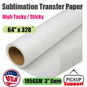Ca-pick 10rolls 64x328andacute High Sticky Dye Sublimation Paper Heat Transfer Paper