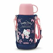 Hello Kitty 2way Stainless Bottle Tumbler Pink Navy Sanrio Thermos Japan F/s New