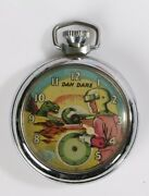 Vintage Dan Dare Ingersoll Eagle Pocket Watch Rare 1950and039s Excellent 5411m