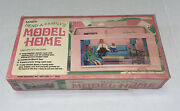 Vintage Miner Bend-a-family Model Home Dollhouse Playset W/box Free Ship