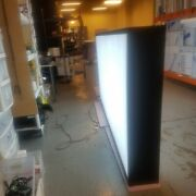 Double Sided Led Light Box Sign And Graphic Polesign, 36x48x10'' Extruded Aluminum