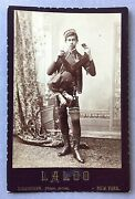 Laloo Parasitic Twin Cabinet Card Sideshow American Dime Museum - Circus Freak