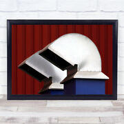 2 Air Vents On The Roof Red Wall Art Print