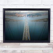 Ethereal Highways Bridge Cityscape Car Cars Taxi Drivers Wall Art Print