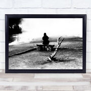 Empty Sight Yellowstone Craters Fumaroles Strong Bench Looking Wall Art Print