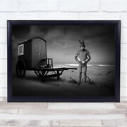 Mad Bunny Is A Lifeguard Beach Water Person Animal House Wagon Wall Art Print
