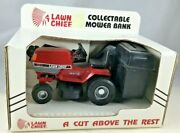 Lawn Chief Collectable Mower Bank Ertl Steerable Front Tires Grass Catcher Bank