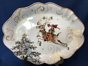 Williams Sonoma Twas The Night Before Christmas Oval Reindeer Platter New In Box