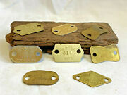 Lot Of 1960and039s-70and039s Brass Dog Tags York Pa Oval Rectangle Triangle Animal Jewelry