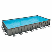 Summer Waves 32ftx16ftx52in Rectangle Frame Above Ground Pool Set For Parts