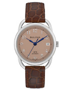 Brand New Bulova Women's Limited Edition Commodore Brown Strap Watch 96m154