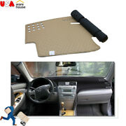 Car Dashboard Leather Cover Non-slip Dash Mat Blanket For Toyota Camry 2007-2011