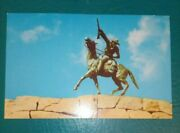 Chrome Postcard Of Buffalo Bill Statue In Cody Wyoming - Unposted
