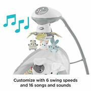 Fisher-price Sweet Snugapuppy Swing, Dual Motion Baby Swing With Music, Sounds A