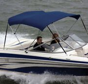 Shademate 80321 Ryl Royal Blue Poly 4-bow Bimini Top/boot8and039l54h61-66w-new