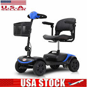 24v X 300w Motor 4 Wheel Electric Powered Wheelchair Compact Mobility Scooter Us