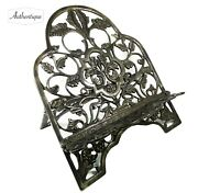 Antique Handstand Easel For Paintings Our Books Art Nouveau In Bronze