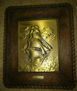 Vintage 1851 Flying Cloud Brass Relief By Thomas D Rodgers Sr