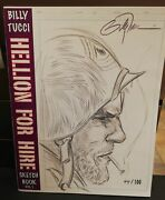 Billy Tucci Hellion For Hire Limited Signed + Original Sketch Sc - Shi Sgt. Rock
