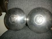 Two Used 1950 51 52 53 54 Kaiser Henry J Hubcaps
