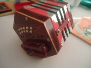 Concertina Accordion Red With Music Book And Bag