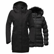 The Women's Size Large Cryos Tri-climate Gore-tex Parka, Tnf Black