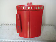 Vintage Fire Fireman Emergency Telephone Bell System Western Electric Call Box
