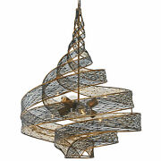 Varaluz 240p06 Flow 6 Light 26 Hand Forged Recycled Steel - Hammered Ore